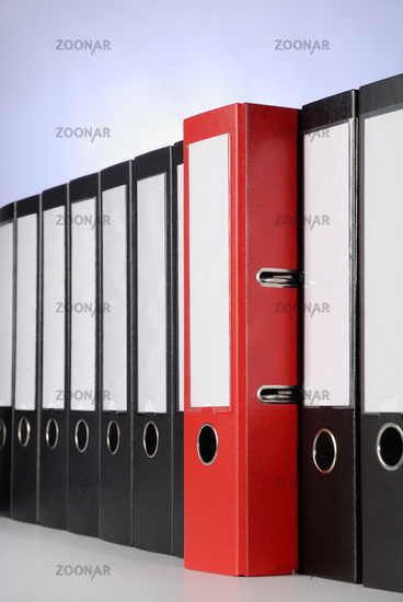 Red ring binder