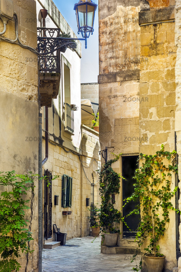 In the old town of Lecce Puglia Italy