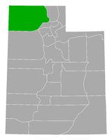 Karte von Box Elder in Utah - Map of Box Elder in Utah