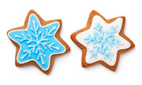 Gingerbread Cookies In Shape Of Star