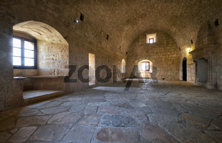 The room on the second storey of Kolossi Castle. Kolossi. Limassol District. Cyprus