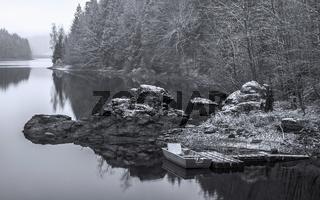 Winterstimmung an der Talsperre Werda (Vogtland)