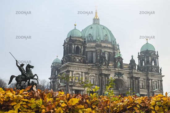 Equestrian statue in front of Berlin Cathedral