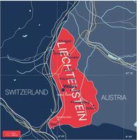 Liechtenstein country detailed editable map