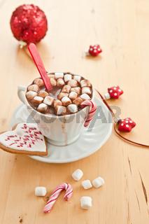 Heisse Schokolade mit Marshmallows