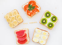 bright mix sandwiches for breakfast, good morning inscription