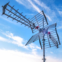 TV antenna with sky background