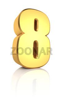 3d Number 8