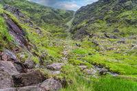 Devils Ladder trail, one of the most difficult and dangerous trails in Ireland