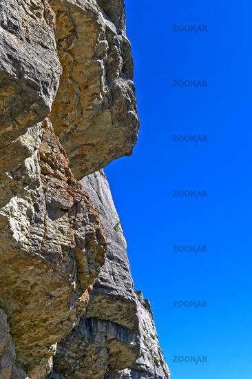 Rock face at the Mont Salève summit, Collonges-sous-Salève, Haute-Savoie, France
