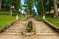Stairway in the Castle park