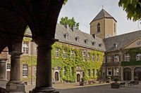 Town Hall Abbey, Moenchengladbach, Lower Rhine, North Rhine-Westphalia, Germany, Europe