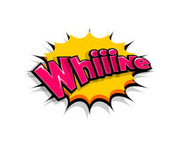 Comic text whiiine, whine logo sound effects