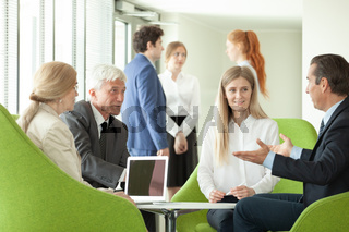 Business people at negotiation