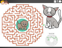 maze educational game with kitten characters