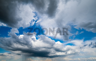 Blue sky with clouds in sunshine background