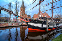 Traditional Sailingship in Papenburg, Lower Saxony, Germany