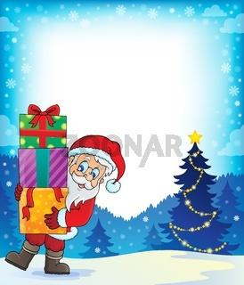 Santa Claus theme image 3 - picture illustration.