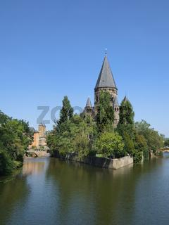 Metz - Kirche Temple Neuf, Frankreich