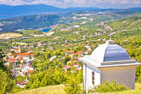 Village of Hreljin above Kvarner bay scenic view
