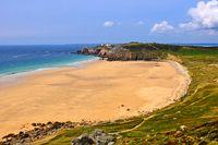 Brittany beach peninsula Crozon