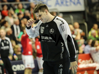 Torwart Nebojsa Simic, MT Melsungen, Liqui Moly HBL, Handball-Bundesliga Saison 2019-20