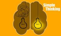 Light bulbs idea concept for simple thinking