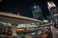 Image of a night view of Shibuya