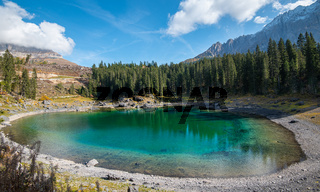 Lake Carezza, Italian Dolomites South Tyrol Italy