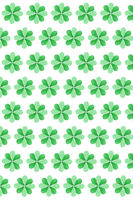 St.Patrick 's Day creative background from clover's leaves.