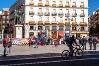 Demonstration in Puerta del Sol against Hispanity day
