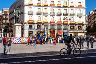 Demonstration in Puerta del Sol against Hispanity day