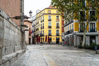 Picturesque view of Plaza de los Carros in central Madrid
