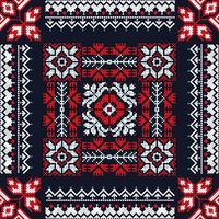 Romanian traditional pattern 208