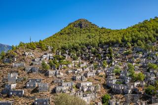 Abandoned village of Kayakoy, ghost town near Fethiye, Turkey