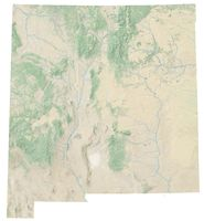 High resolution topographic map of New Mexico