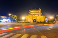 ancient weiyuan tower at night