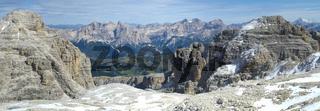 panorama in alps dolomites