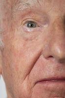 Portrait of a senior caucasian man's eye
