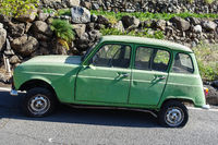 Vintage cars on the island of La Gomera, Spain
