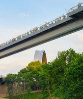Kiev new Pedestrian-Bicycle Bridge