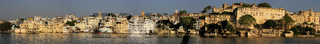 Panorama of City Palace complex, Udaipur, India