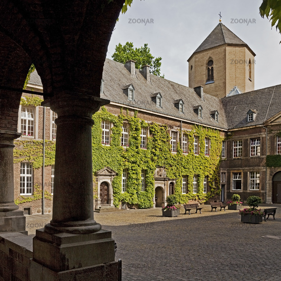 Town Hall Abbey, Moenchengladbach, Lower Rhine, North Rhine-Westphalia, Germany, Europe