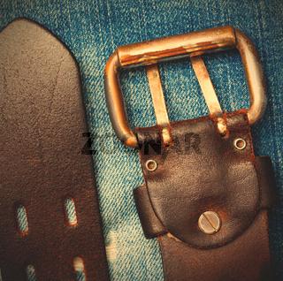 vintage belt with buckle