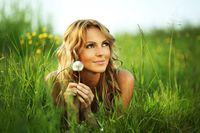 Girl with dandelion i wish