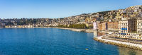 View of Naples on the Gulf of Naples Campania Italy