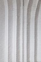 Corner white brick wall texture, vertical