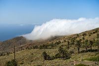 Clouds break over the ridges near Arguamul - Island La Gomera