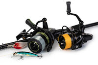 Spinning rod, reel and fishing baits