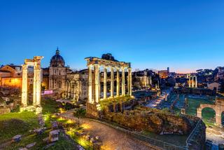 Die Ruinen des römischen Forums in Rom